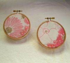 Floral Hoop Decor by ThisandThatCrafter on Etsy, $14.95