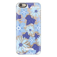 iPhone 6 Plus/6/5/5s/5c Case - Something Blue Flowers Pretty Wedding... ($40) ❤ liked on Polyvore featuring accessories, tech accessories, iphone case, apple iphone cases, iphone cover case, slim iphone case and blue iphone case