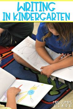Do you need writing lesson plans for kindergarten? Check out these lesson plans for the entire year for kindergarten and 1st grade, too! Make writing instruction simple!