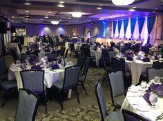 Canadian Honker Events at Apace, Rochester MN #weddings #decor #headtable #backdrop #uplights #grandballroomwedding