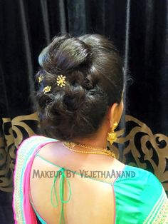 Indian bride's bridal hairstyle.  Beauty is at every age, and we can embrace God's gifts. A wife's hair is just naturally beautiful, a glory to her and a joy to her friend/husband