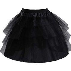 Edress Girls 3 Layers Wedding Flower Girl Petticoat Kids Underskirt Slip M,