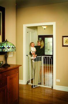 Baby Safety Gate Walk Thru Easy Step Toddler Pet Child Stairway Infant Dog Fence…