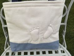 tote bag baby feet by onthebuttonbags on Etsy, £8.00