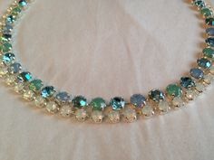 NEW! Any Single Color (6mm) Swarovski Necklace by emilytrends on Etsy (sabika inspired)