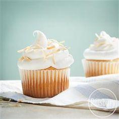 Toasted Coconut Marshmallow Cupcakes from Pillsbury® Baking
