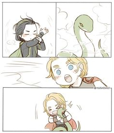 Claro que Loki inocente só estava treinando metamorfose...