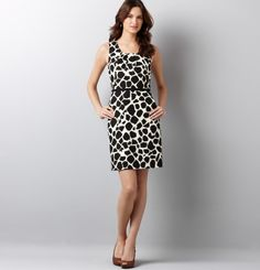 Animal Polka Dot Sheath, $79.50.  Ann Taylor Loft