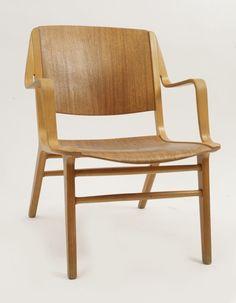 Peter Hvidt for Fritz Hansen Axe Chairs | red modern furniture