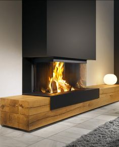 The 70 Best Modern Fireplace Design Ideas – Luxury Interior – Living Room Furniture – Living Room Ideas Fireplace Hearth, Home Fireplace, Living Room With Fireplace, Fireplace Design, Living Room Decor, Modern Fireplaces, Fireplace Ideas, Black Fireplace, Living Area