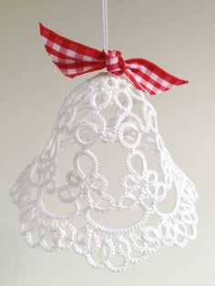 White tatted bell Christmas decoration wedding by SILHUETTE