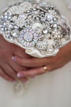 Bling! Brooch Bouquet:) #wedding #bouquet