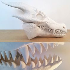 Here are a couple more detailed shots of the super high quality dragon skull designed by @3dkitbash from their #BoneheadsS2 collection. If you want to see more images check out (and like!) our Facebook page: http://ift.tt/1NZPL8h. This was printed on the gMax 1.5 XT at 0.2mm layer height in Colorfabb PLA. Model was scaled to 400%. Needless to say we are excited to print more models from them soon  by gcreate3d