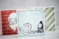 Xmas notepads by AgnieszkaD, using stamps from 3rd Eye