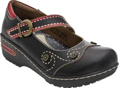 Spring Step Sugarcane women's casual (Black Leather)  Love, love, love these!!