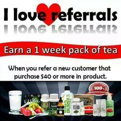 Refer friends and I'll give you a one week pack FREE!  Ask me how! www.totallifechanges.com/heavenshelper IBO #2955131 heavenshelper1950@gmail.com