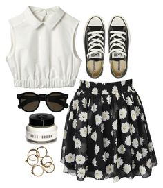 """I was a daisy fresh girl"" by rosiee22 ❤ liked on Polyvore featuring Converse, Beau Coops and Bobbi Brown Cosmetics"