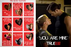 The perfect card for your bloody valentines and Alexander Skarsgard enthusiasts.