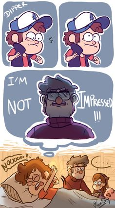 """I can imagine Ford waking him up and then Dipper yelling """"I'M SORRY! Gravity Falls Funny, Gravity Falls Fan Art, Gravity Falls Comics, Dipper And Mabel, Dipper Pines, Mabel Pines, Gavity Falls, Fall Memes, Draw The Squad"""