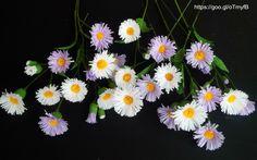 Wild Flower / Erigeron annuus with crepe paper - Youtube tutorial