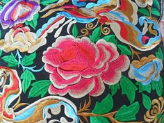 Roses Hmong Embroidered Cushion Cover on Etsy