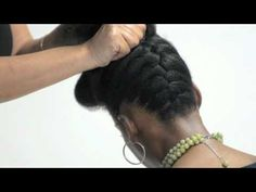 Pump It Up Pin Up- Natural Hair Tutorial by Kinky,Curly,Relaxed,Extensions Board