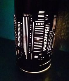 City lights New York centerpiece Extra large Denver Skyline, Houston Skyline, New York Skyline Silhouette, New York Dance, New York Party, Chicago City, City Lights, Paper Cutting, Centerpieces