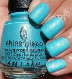 China Glaze What I Like About Blue // @kelliegonzoblog