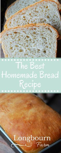 This is the best homemade bread recipe! The bread is soft and airy with a perfec… This is the best homemade bread recipe! The bread is soft and airy with a perfect buttery crust. It will turn out every time you make it. Try it today! Bread Machine Recipes, Bread Recipes, Baking Recipes, How To Make Bread, Food To Make, Best Homemade Bread Recipe, Homemade Breads, Homemade Biscuits, Farmhouse Bread Recipe