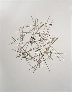 Isamu Noguchi  Bird's Nest (Nesting)  1947  Wood dowels, balsawood, paper, paint, tape