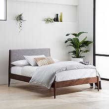 Modern Bed - Linen Weave