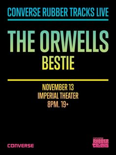 Converse Rubber Tracks Live announces National Tour with The Orwells