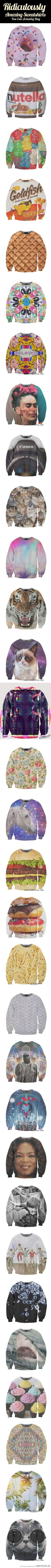 Ridiculous Sweatshirts…I want them all.