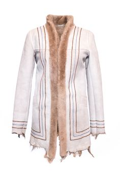 Lyuks white Fur Coat, Jackets, Fashion, Down Jackets, Moda, Fashion Styles, Fur Coats, Jacket, Fashion Illustrations