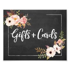 #floral - #Gifts and Cards Rustic Floral Wedding Sign Photo Print