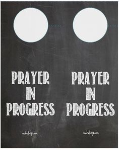 Prayer in Progress Door Hangers- FREE Printable