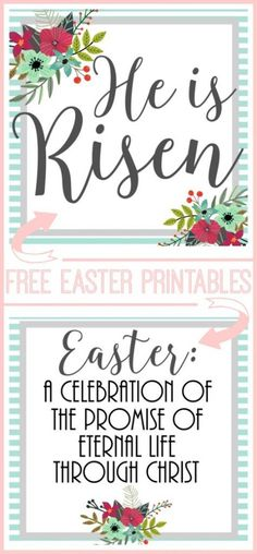 FREE Easter printables - these would look great framed!!  and also Easter Week Activity Advent - - Sugar Bee Crafts