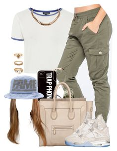 """•Back At It•"" by oh-aurora ❤ liked on Polyvore featuring Topshop, Almost Famous, Cazal, CÉLINE, Forever 21, Givenchy and Stussy"
