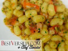 Gnocchetti di patate con gamberi e zucchine, questa è la ricetta del Bernini di questa settimana ! Un piatto adatto per la stagione corrente e facile