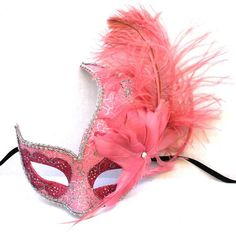 Feather Masquerade Ball Party Mask #halloween #feather #mask www.loveitsomuch.com