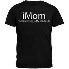Funny Mother's Day iMom Geek Black Adult T-Shirt | OldGlory.com