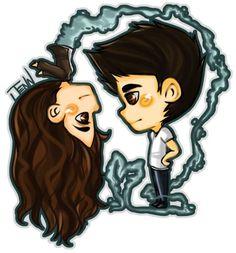 Elena's bro and his dead vampire girlfriend.
