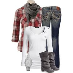 Red Plaid by meltog on Polyvore featuring Isabella Oliver, Big Star, Michael Kors and Bruuns Bazaar