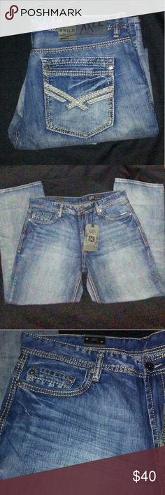 """W38xL32 AXEL JEANS Brand new with tags. Premium grade authentic denim. No stains holes or rips. Fit Relaxed Straight. Sits at waist. Relaxed fit at seat and thigh. Straight leg. 18"""" leg opening. Smoke and pet free home. AXEL Jeans Straight"""