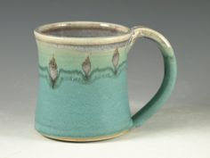Hey, I found this really awesome Etsy listing at https://www.etsy.com/listing/98145561/ceramic-mug-with-large-handle-turquoise