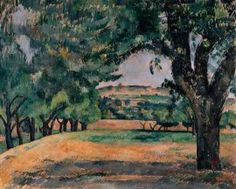 Paul Cézanne, The Neighborhood of Jas de Bouffan, 1885–87. Oil on canvas, 25 9/16 x 31 7/8 inches (65 x 81 cm)