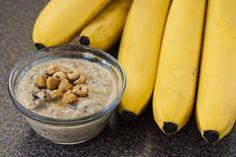 Banana PB Overnight Oats Healthy Food Blogs, Good Healthy Recipes, Ww Recipes, Clean Recipes, Real Food Recipes, Cooking Recipes, Oats Recipes, Healthy Life, Recipies