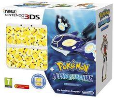 Nintendo New 3DS, bílá + Pokémon AS + Pikachu Faceplat