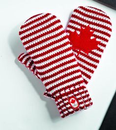Those popular little red mittens have a new look. New Olympic mittens are now available at the Bay. Canadian Leaf, Red Mittens, Toronto Star, Little Red, Comebacks, Olympics, New Look, Red And White, Sewing Projects