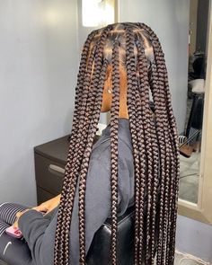 Box Braids Hairstyles For Black Women, Cute Braided Hairstyles, Black Girl Braids, African Braids Hairstyles, Braids For Black Hair, Girls Braids, Protective Hairstyles, Protective Styles, Wedding Hairstyles